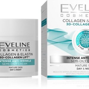 COLLAGEN & ELASTIN INTENSE ANTI-WRINKLE SEMI-OILY CREAM-Kontrafouris Cosmetics