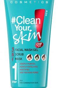 CLEAN YOUR SKIN FACIAL WASH GEL + SCRUB +MASK-Kontrafouris Cosmetics