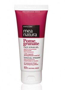MEA NATURA Pomegranate Scrub Gel Προσώπου-Kontrafouris Cosmetics