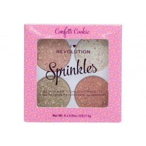 I Heart Revolution Sprinkles Blush and Highlighter Palette-Kontrafouris Cosmetics